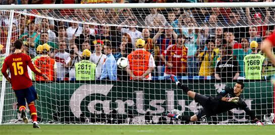 El penalti a lo Panenka de Sergio Ramos contra Portugal en la Euro de 2012